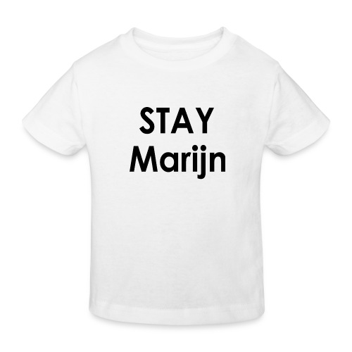 stay marijn black - Kinderen Bio-T-shirt