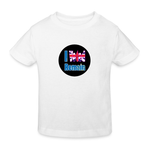 I Voted Remain badge EU Brexit referendum - Kids' Organic T-Shirt