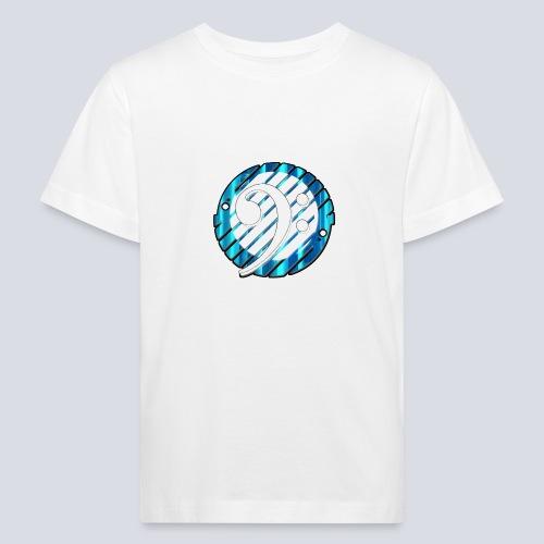 BassClef blue/white - Kids' Organic T-Shirt