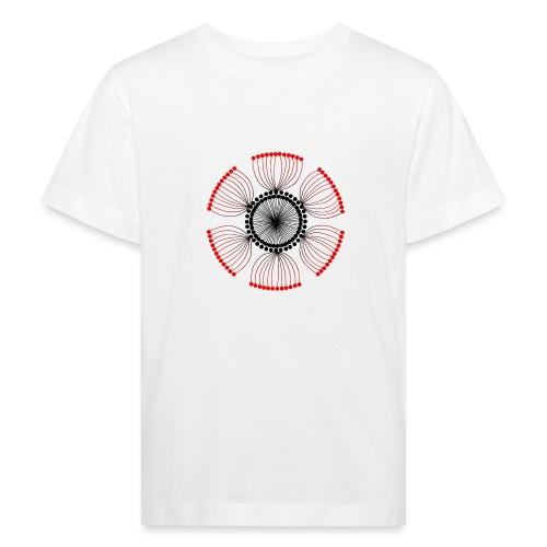 Red Poppy Seeds Mandala - Kids' Organic T-Shirt