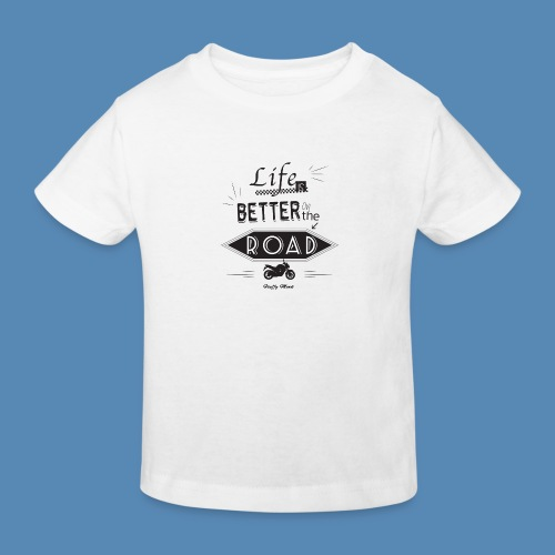 Moto - Life is better on the road - T-shirt bio Enfant