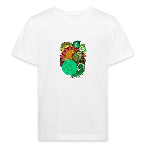 Coloured Leaf Mandala - Kids' Organic T-Shirt