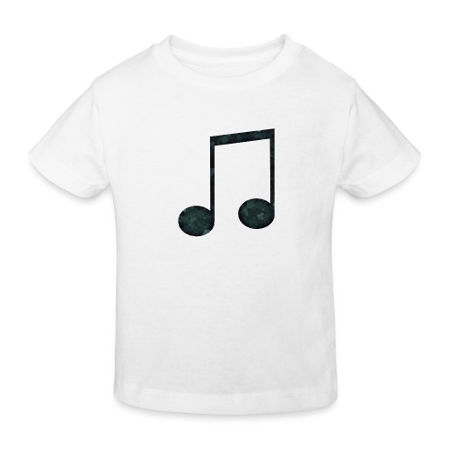 Low Poly Geometric Music Note - Kids' Organic T-Shirt