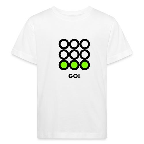 Go! Vedi anche i motivi Stop e Wait! - Maglietta ecologica per bambini