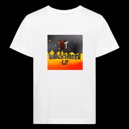 Waschbeer Design 2# Mit Flammen - Kinder Bio-T-Shirt