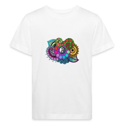 Coloured Nature Mandala - Kids' Organic T-Shirt