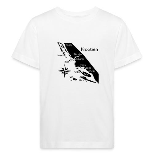 Kroatien Zadar bis Hvar - Kinder Bio-T-Shirt