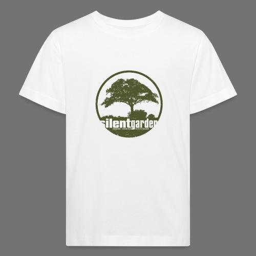 hiljainen puutarha (vihreä oldstyle) - Lasten luonnonmukainen t-paita