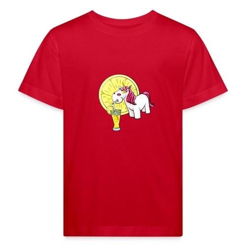 Kuscheleinhorm mit Zitronenlimonade - Kinder Bio-T-Shirt