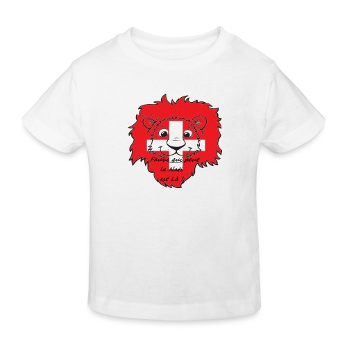 Lion supporter Suisse - T-shirt bio Enfant