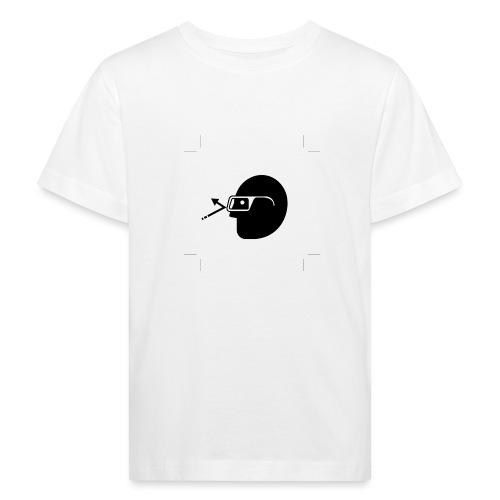 Kopf mit Brille - Kinder Bio-T-Shirt