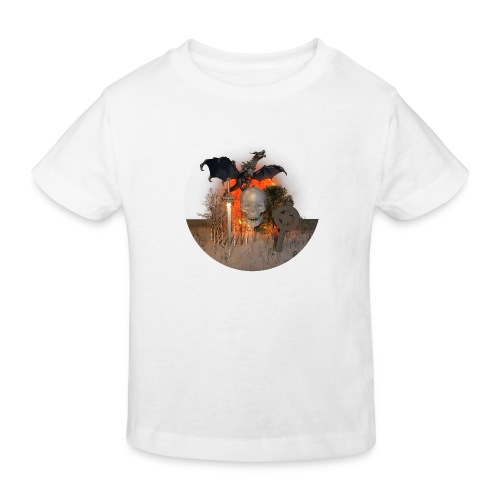 Dragon skull on the sun - T-shirt bio Enfant