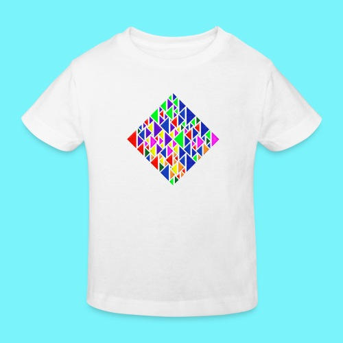 A square school of triangular coloured fish - Kids' Organic T-Shirt