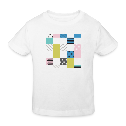Abstract art squares - Kids' Organic T-Shirt