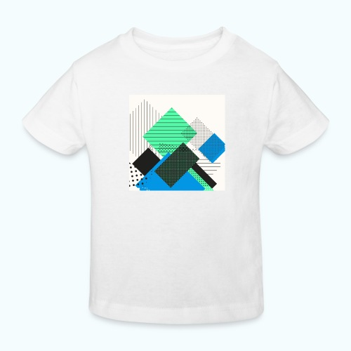 Abstract rectangles pastel - Kids' Organic T-Shirt