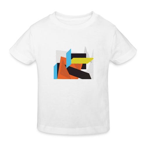 Vintage shapes abstract - Kids' Organic T-Shirt