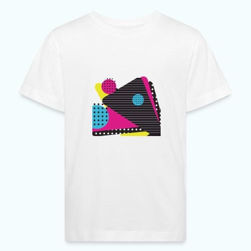 Abstract vintage shapes pink - Kids' Organic T-Shirt