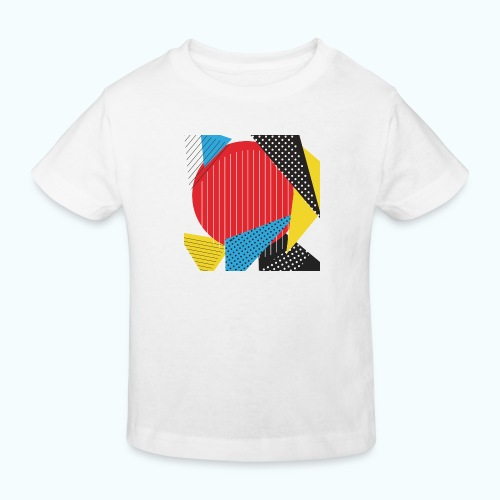 Geometry collage Abstract colors - Kids' Organic T-Shirt