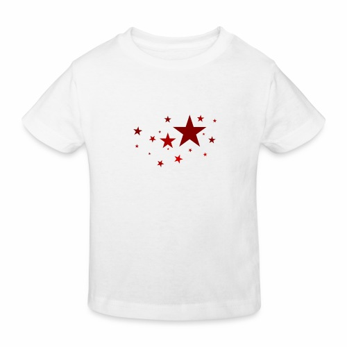 Sterne in Rot - Kinder Bio-T-Shirt