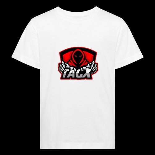 TagX Logo with red borders - Lasten luonnonmukainen t-paita