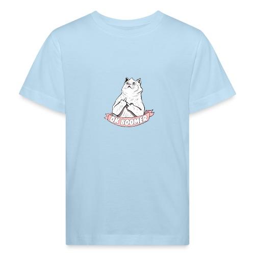 OK Boomer Cat Meme - Kids' Organic T-Shirt