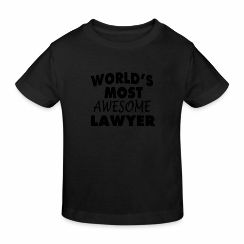 Black Design World s Most Awesome Lawyer - Kinder Bio-T-Shirt