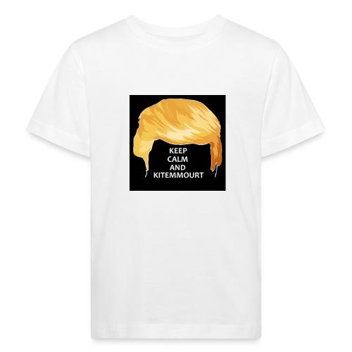 Keep Calm And Kitemmuort Capelli Trump - Maglietta ecologica per bambini