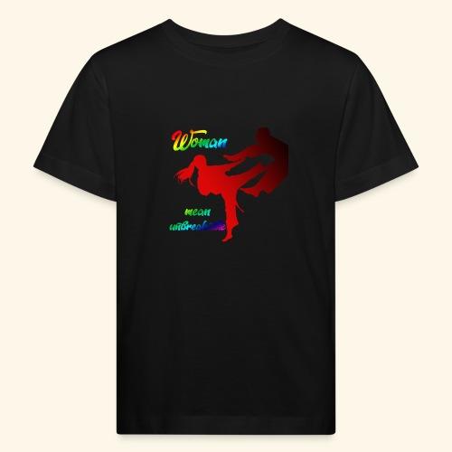 woman mean unbreakable - Maglietta ecologica per bambini