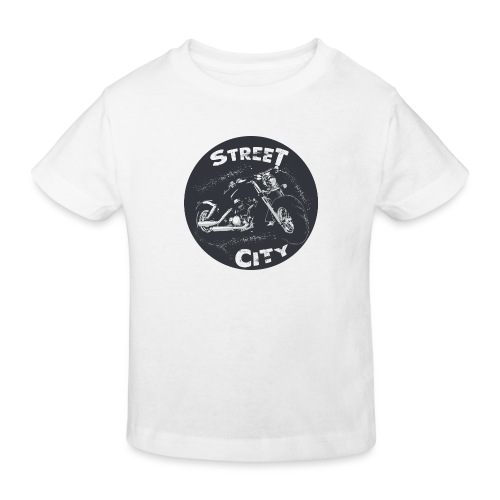 motocicleta - Camiseta ecológica niño
