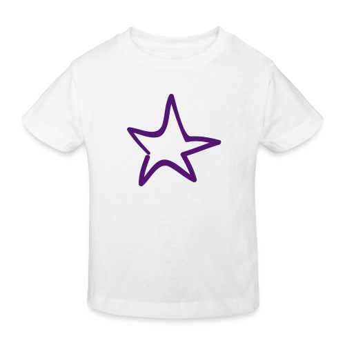 Star Outline Pixellamb - Kinder Bio-T-Shirt