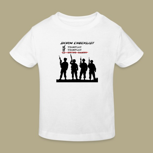 Skirm Checklist - Kinderen Bio-T-shirt