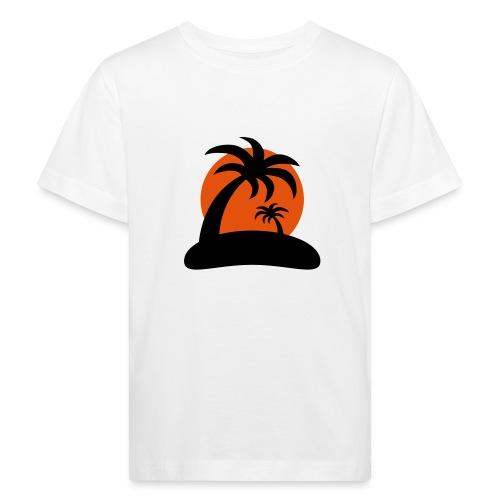 palm island sun - Kinderen Bio-T-shirt