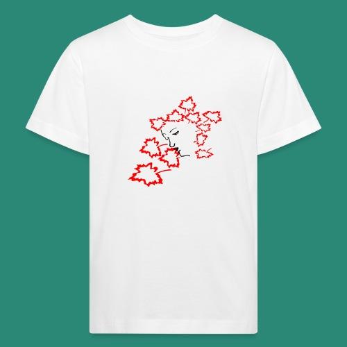 entblätterte Herbstfee - Kinder Bio-T-Shirt