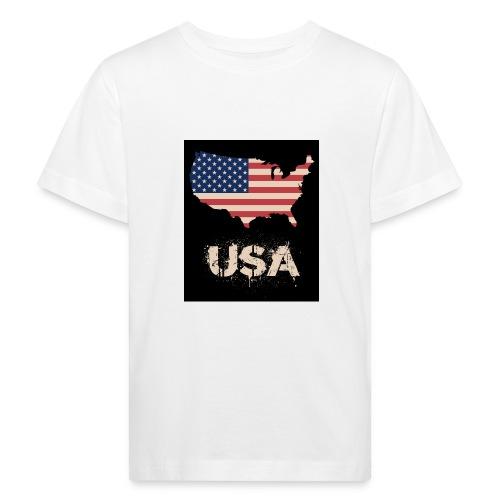 USA FLAG 4th of July With Flag - Ekologisk T-shirt barn