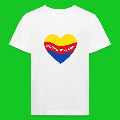 Love Noord Holland Hart.png - Kinderen Bio-T-shirt