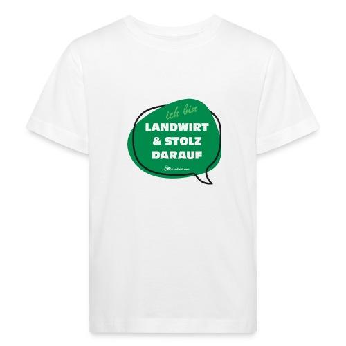 Landwirt und stolz darauf - Kinder Bio-T-Shirt