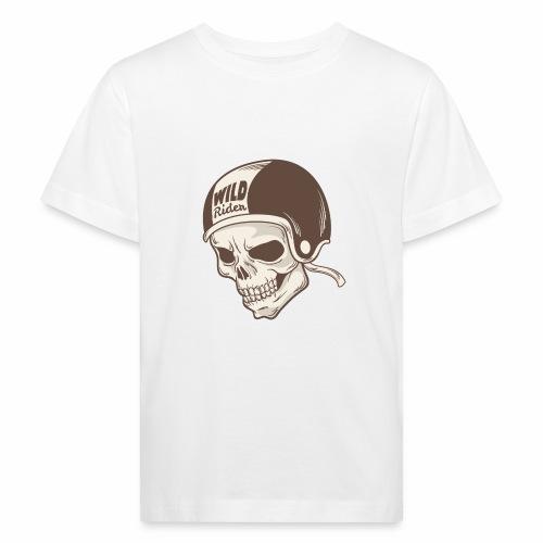 Helmet Skull Wild Rider - Kids' Organic T-Shirt