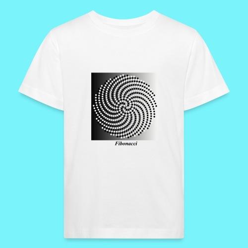 Fibonacci spiral pattern in black and white - Kids' Organic T-Shirt