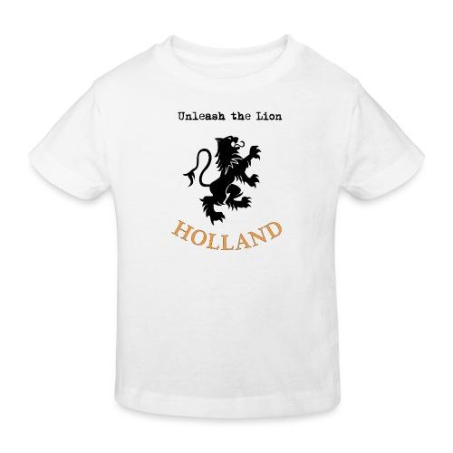 HOLLAND Oranje Unleash the LION - Kinderen Bio-T-shirt
