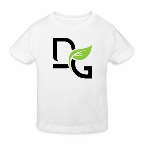 DrGreen Logo Symbol schwarz grün - Kinder Bio-T-Shirt