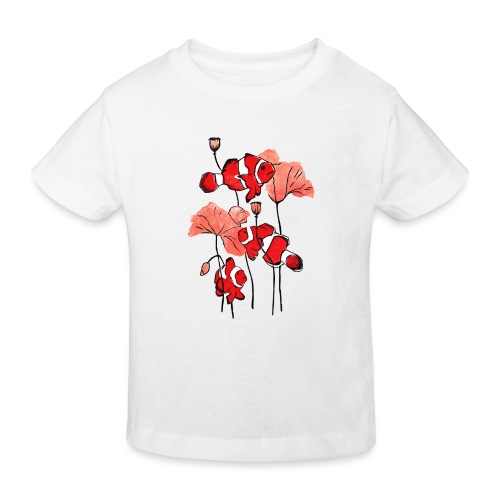 Linocut Clownfish - Kinder Bio-T-Shirt
