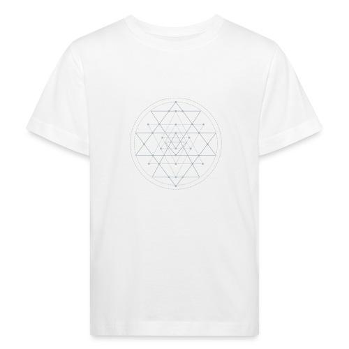 Harmaa geometrinen Shri Yantra -kuvio - Lasten luonnonmukainen t-paita
