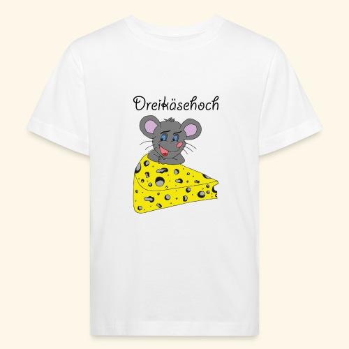 Dreikäsehoch - schwarze Schrift - Kinder Bio-T-Shirt
