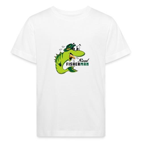 10-38 REAL FISHERMAN - TODELLINEN KALASTAJA - Lasten luonnonmukainen t-paita