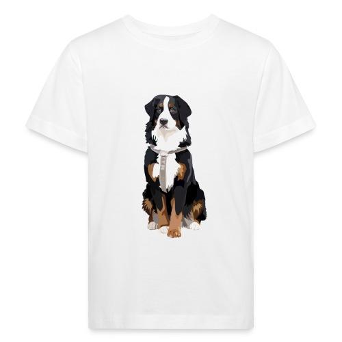 Freja sitter framifrån - Ekologisk T-shirt barn