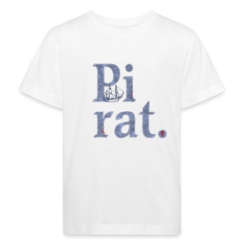 Pirat mit Schiff - Kinder Bio-T-Shirt