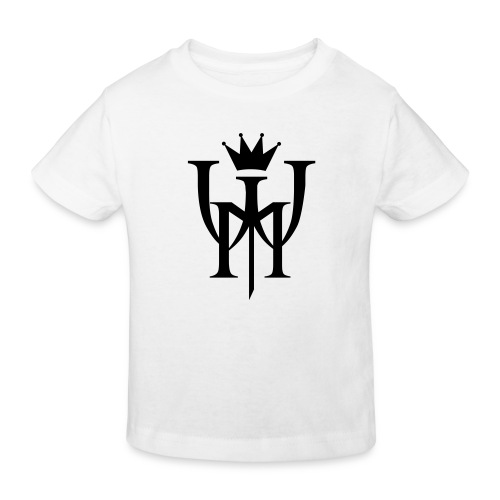 Logo MW Czarne - Ekologiczna koszulka dziecięca