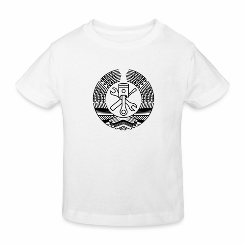 DDR Tuning Coat of Arms 1c (+ Your Text) - Kids' Organic T-Shirt