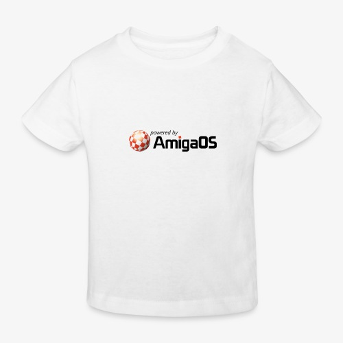 PoweredByAmigaOS Black - Kids' Organic T-Shirt