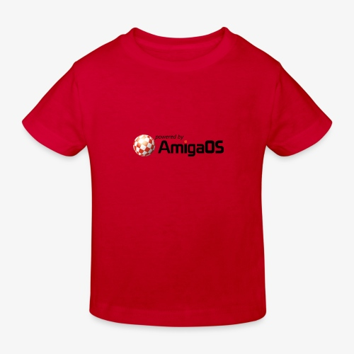 PoweredByAmigaOS Black - Kids' Organic T-Shirt